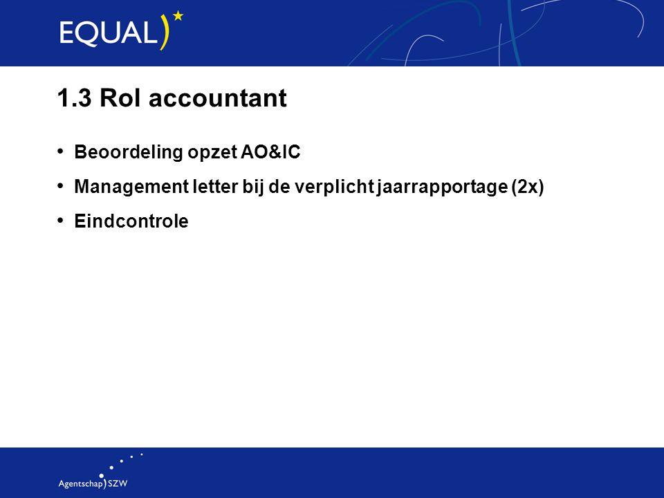 1.3 Rol accountant Beoordeling opzet AO&IC