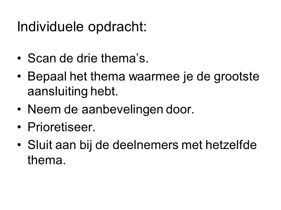 Individuele opdracht: