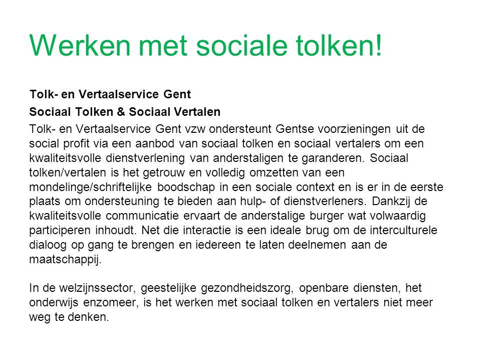 Werken met sociale tolken!
