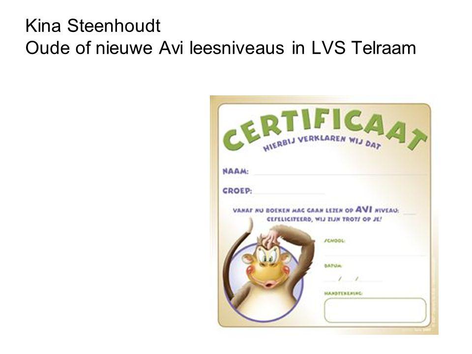 Kina Steenhoudt Oude of nieuwe Avi leesniveaus in LVS Telraam