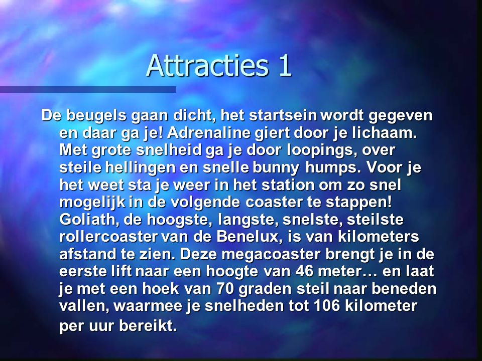 Attracties 1