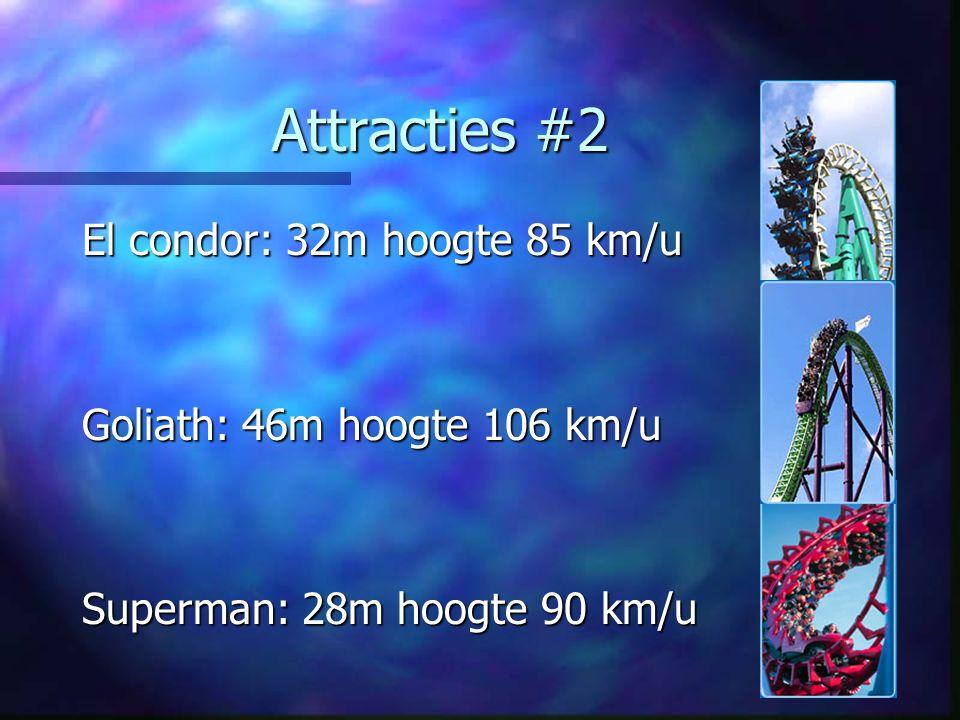 Attracties #2 El condor: 32m hoogte 85 km/u