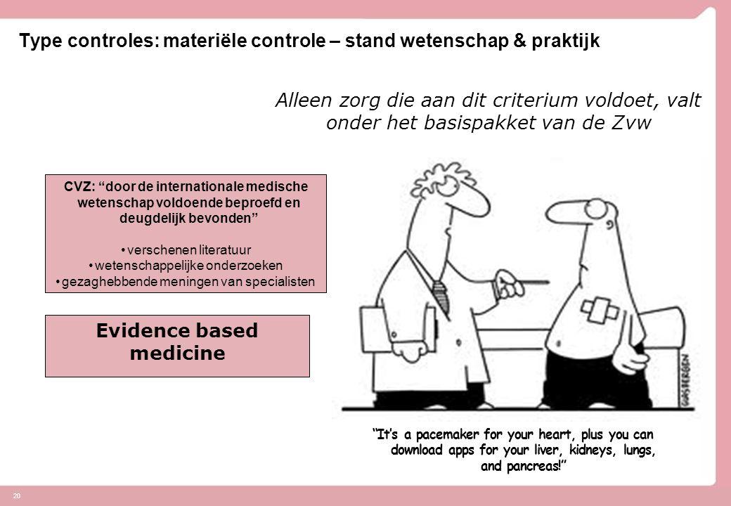 Type controles: materiële controle – stand wetenschap & praktijk