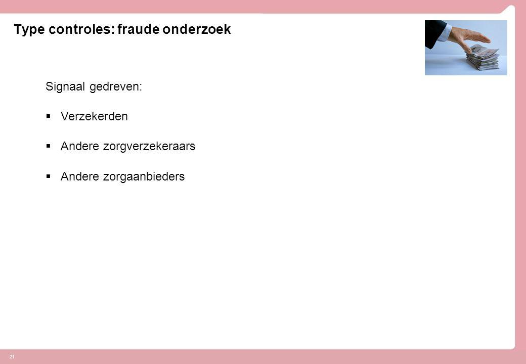Type controles: fraude onderzoek