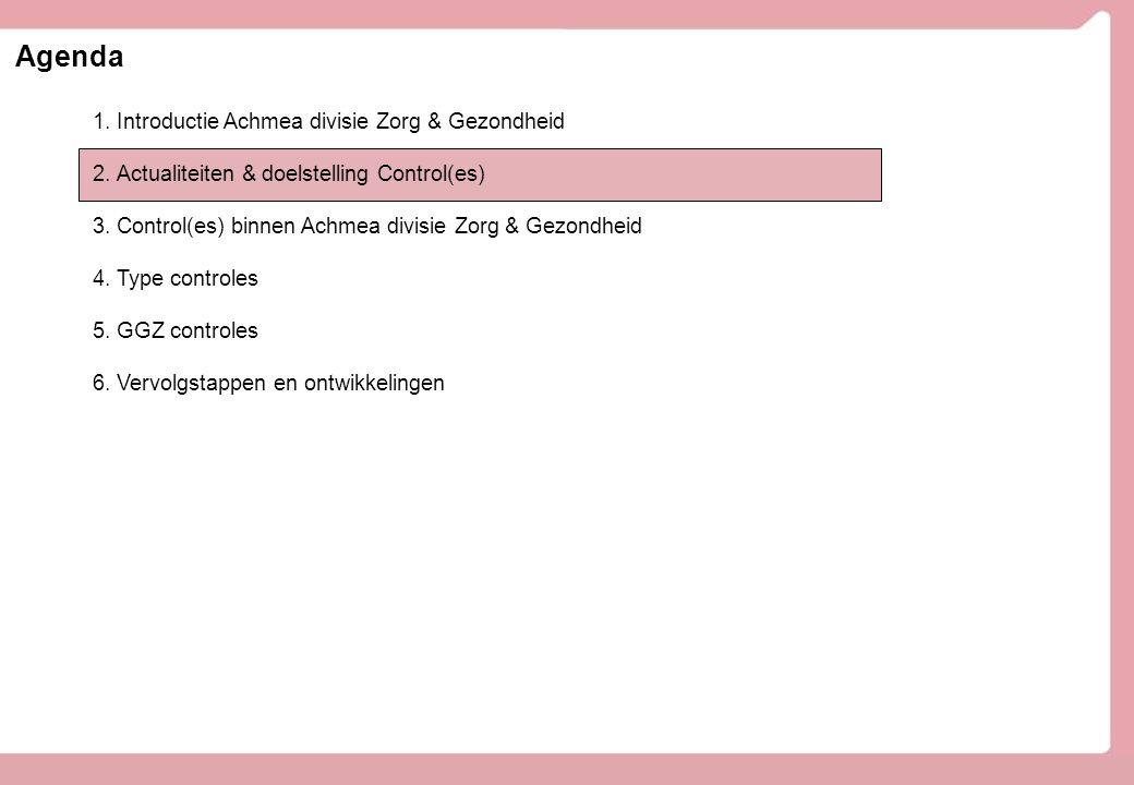 Agenda Introductie Achmea divisie Zorg & Gezondheid