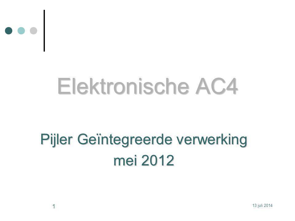 Pijler Geïntegreerde verwerking mei 2012