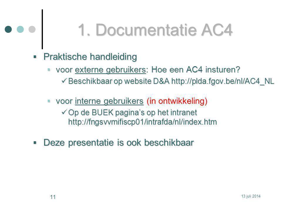 1. Documentatie AC4 Praktische handleiding