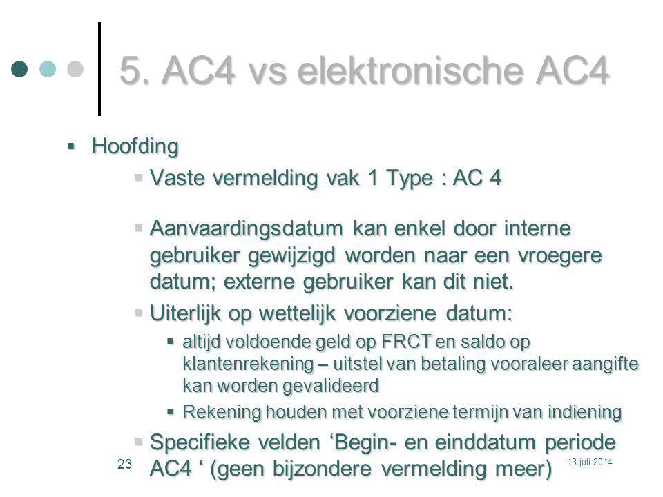 5. AC4 vs elektronische AC4 Hoofding