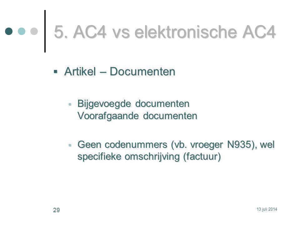 5. AC4 vs elektronische AC4 Artikel – Documenten