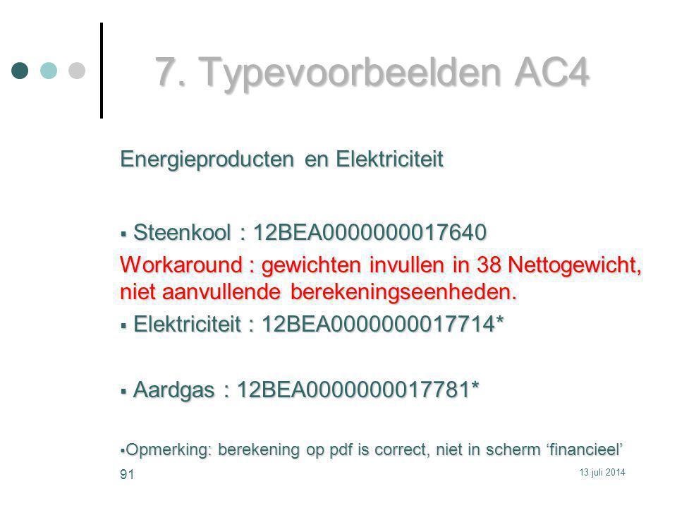7. Typevoorbeelden AC4 Energieproducten en Elektriciteit