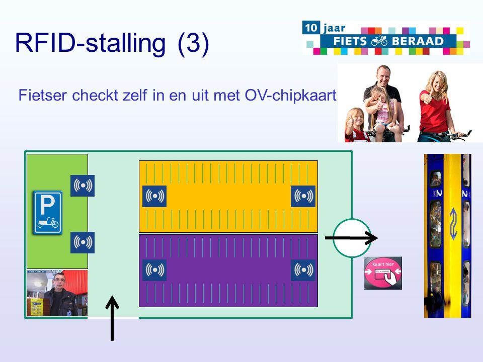 RFID-stalling (3) Fietser checkt zelf in en uit met OV-chipkaart