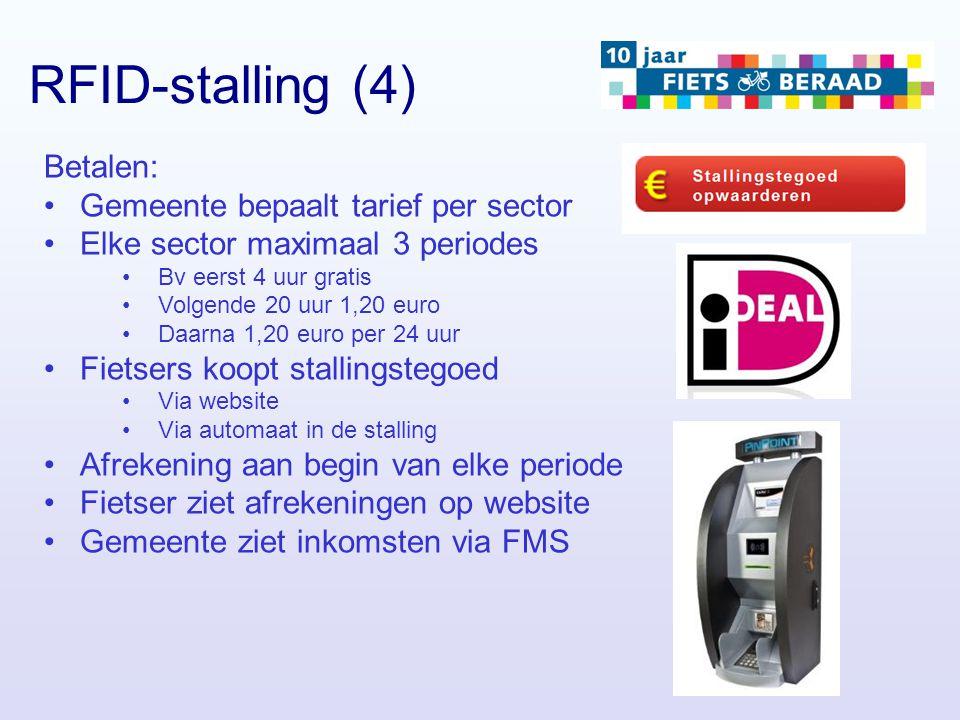 RFID-stalling (4) Betalen: Gemeente bepaalt tarief per sector