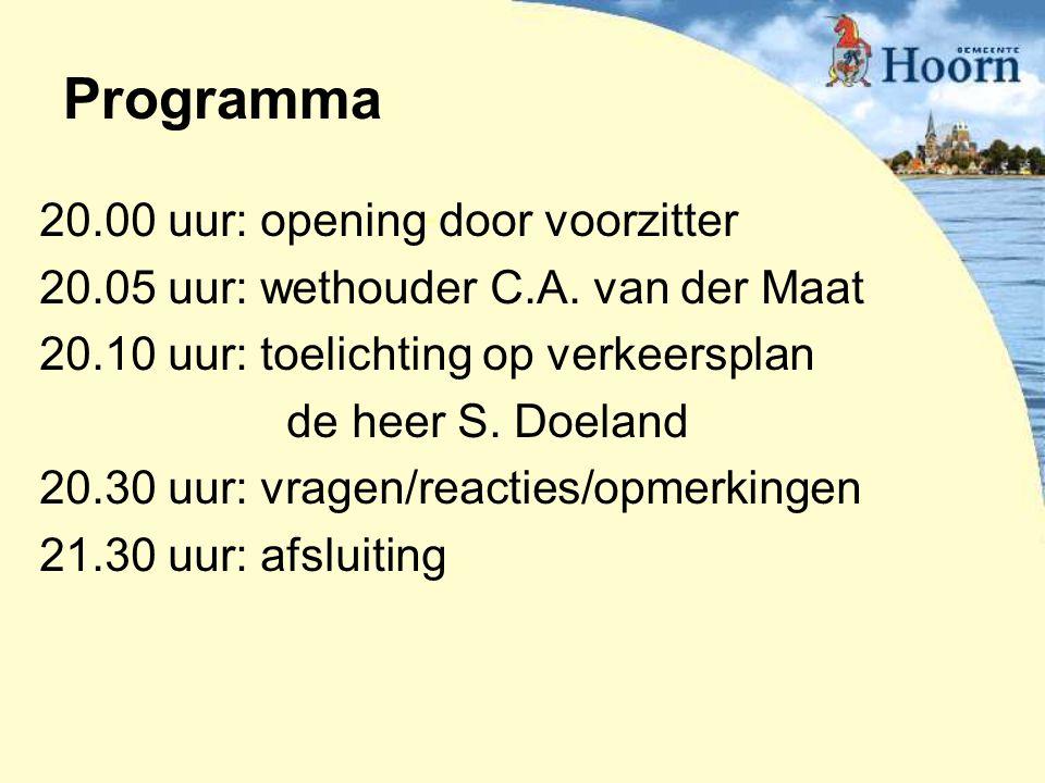 Programma 20.00 uur: opening door voorzitter