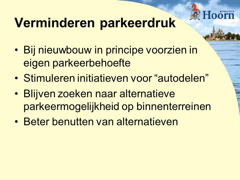 Verminderen parkeerdruk