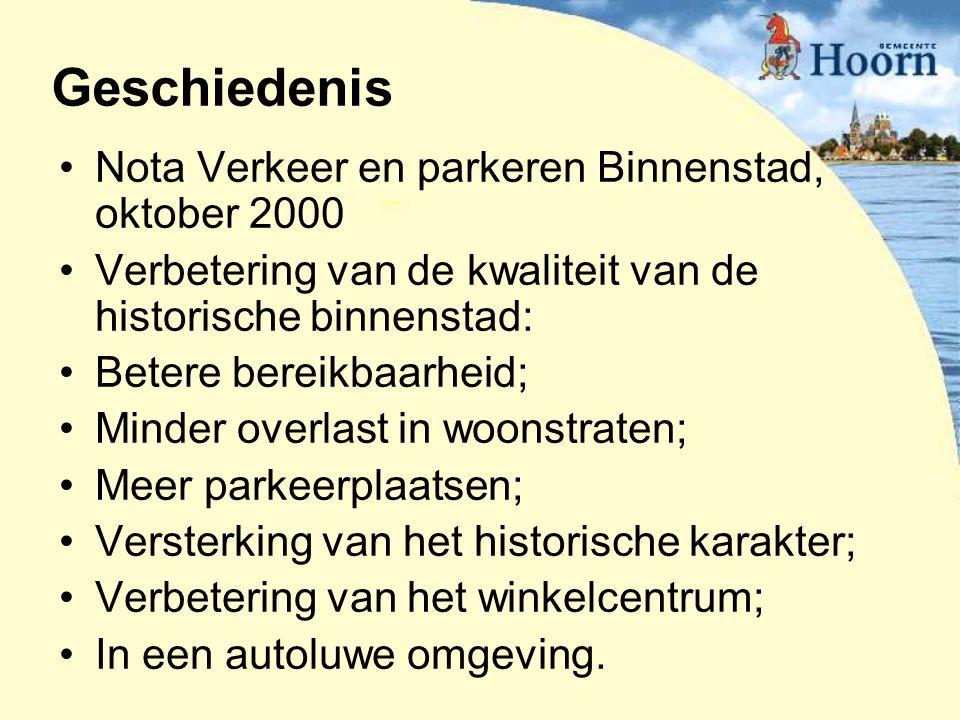 Geschiedenis Nota Verkeer en parkeren Binnenstad, oktober 2000