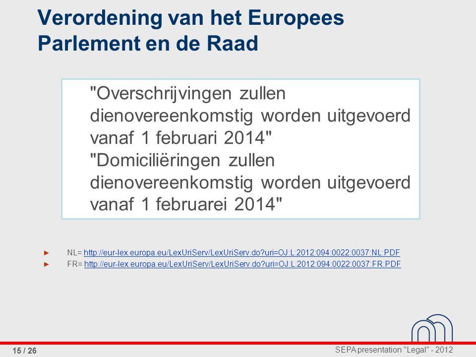 Verordening van het Europees Parlement en de Raad