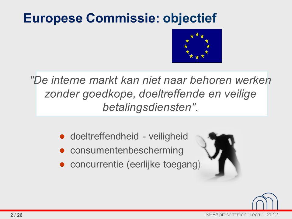 Europese Commissie: objectief