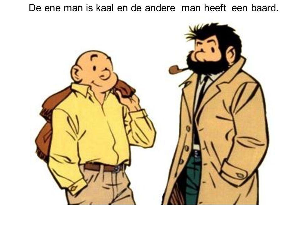 De ene man is kaal en de andere man heeft een baard.