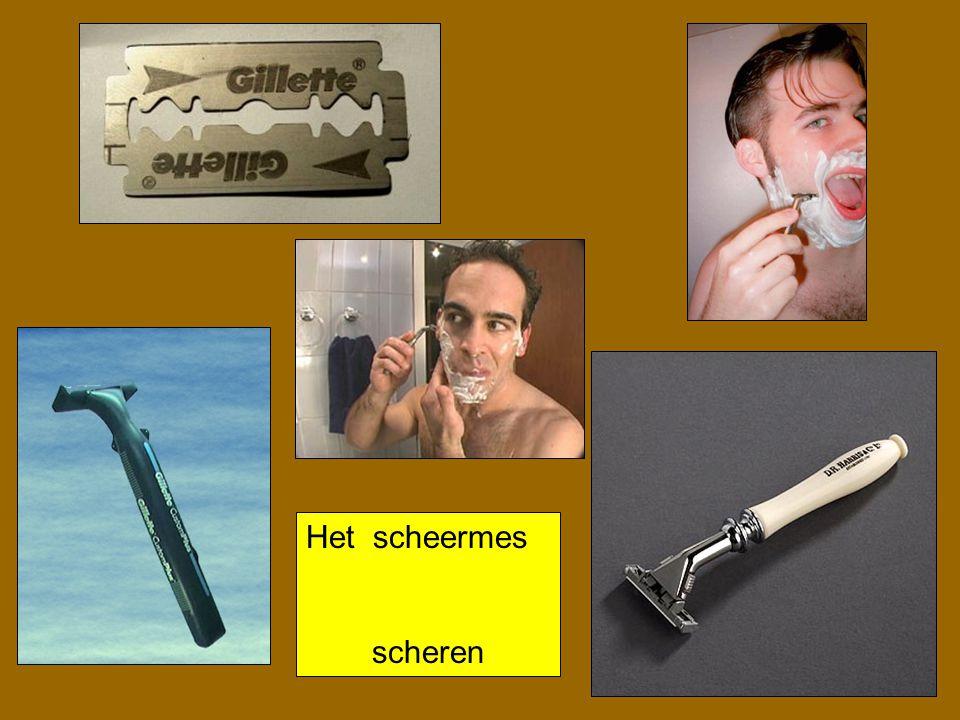 Het scheermes scheren