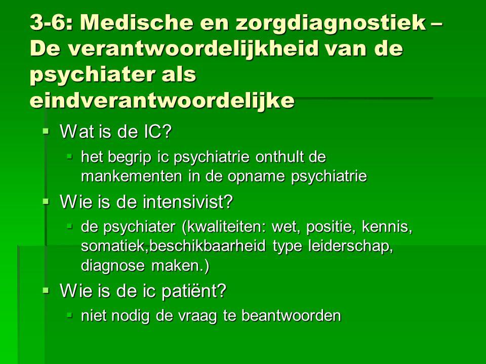 3-6: Medische en zorgdiagnostiek – De verantwoordelijkheid van de psychiater als eindverantwoordelijke