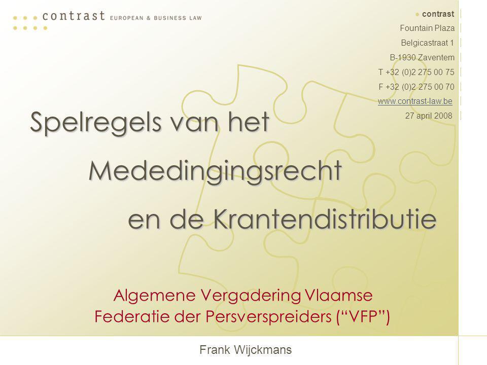 Algemene Vergadering Vlaamse Federatie der Persverspreiders ( VFP )
