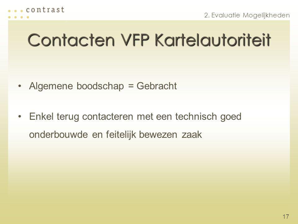 Contacten VFP Kartelautoriteit