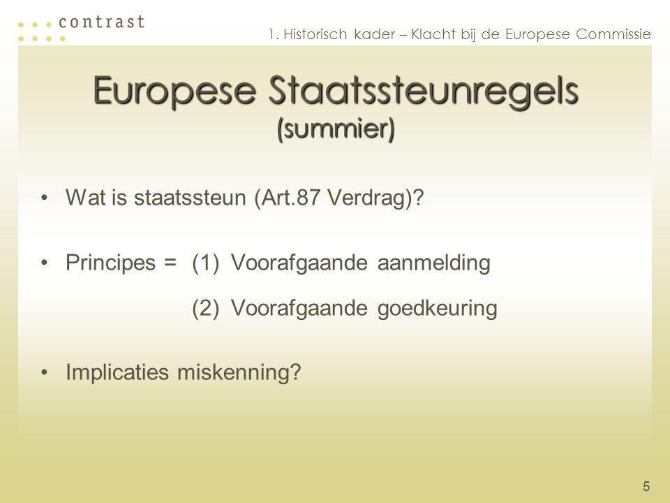 Europese Staatssteunregels (summier)
