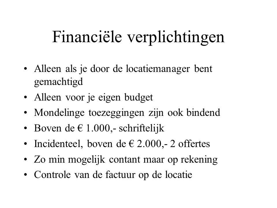 Financiële verplichtingen