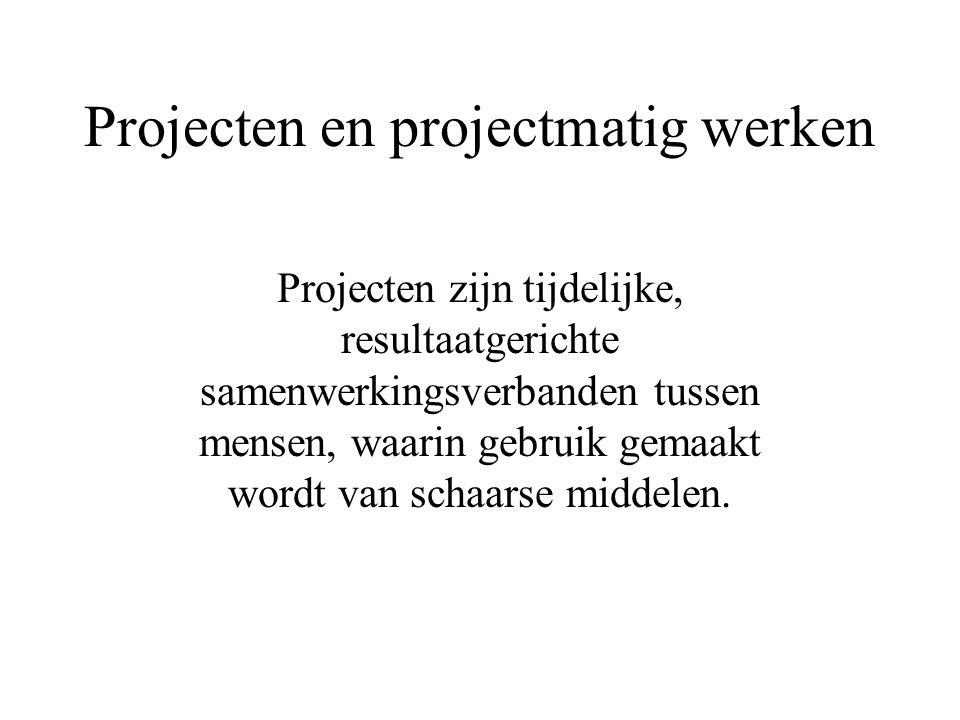 Projecten en projectmatig werken