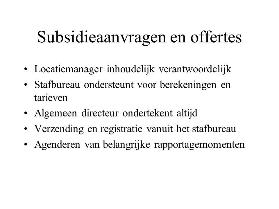 Subsidieaanvragen en offertes
