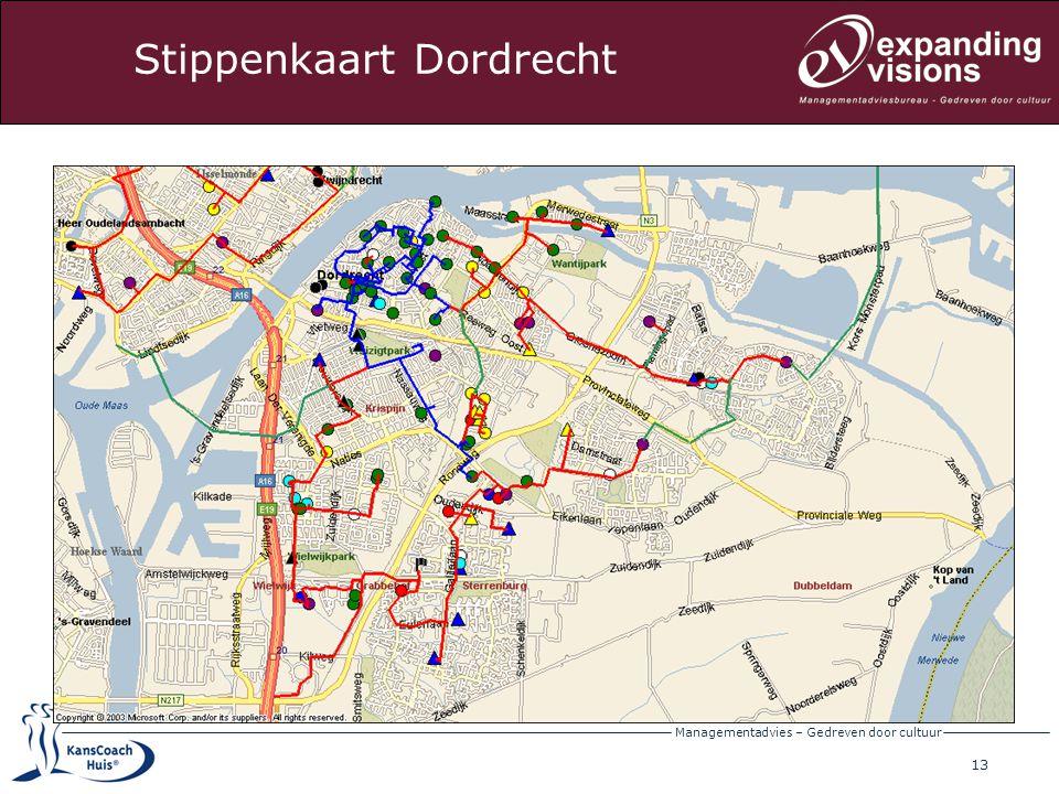 Stippenkaart Dordrecht