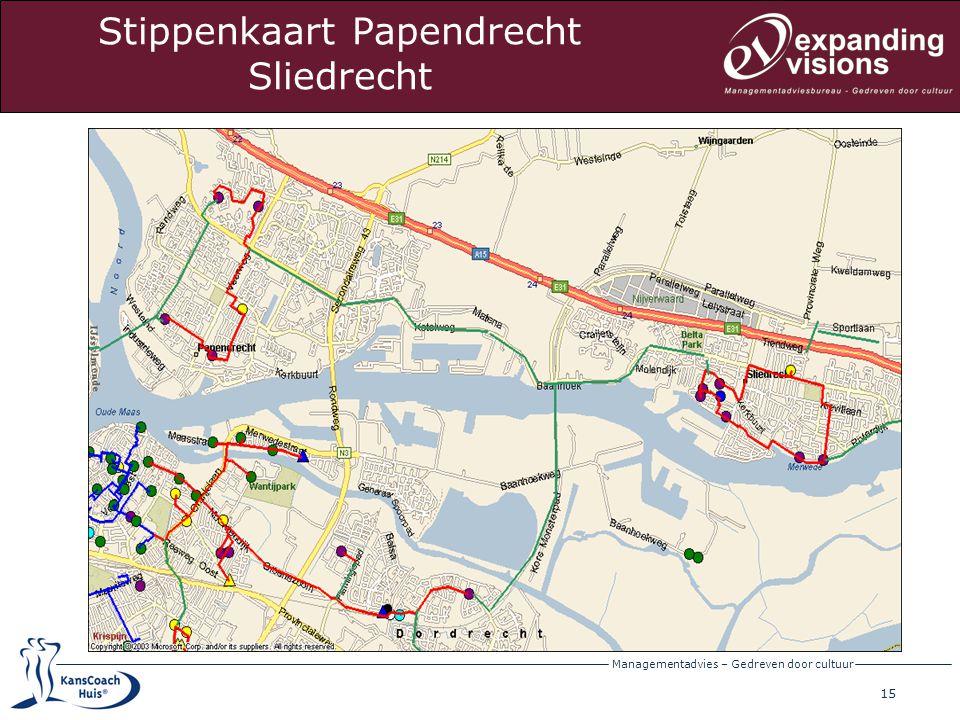 Stippenkaart Papendrecht Sliedrecht