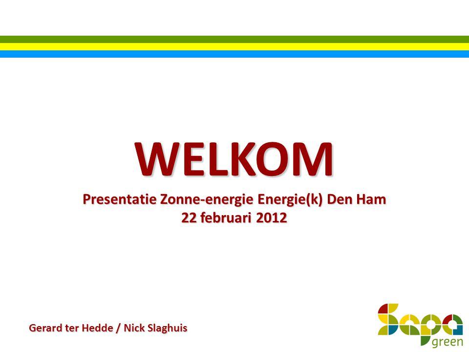 Presentatie Zonne-energie Energie(k) Den Ham