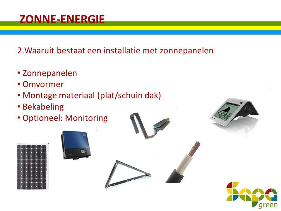 ZONNE-ENERGIE Waaruit bestaat een installatie met zonnepanelen