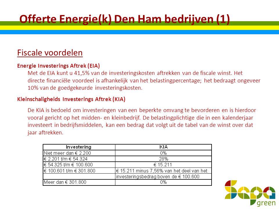 Offerte Energie(k) Den Ham bedrijven (1)