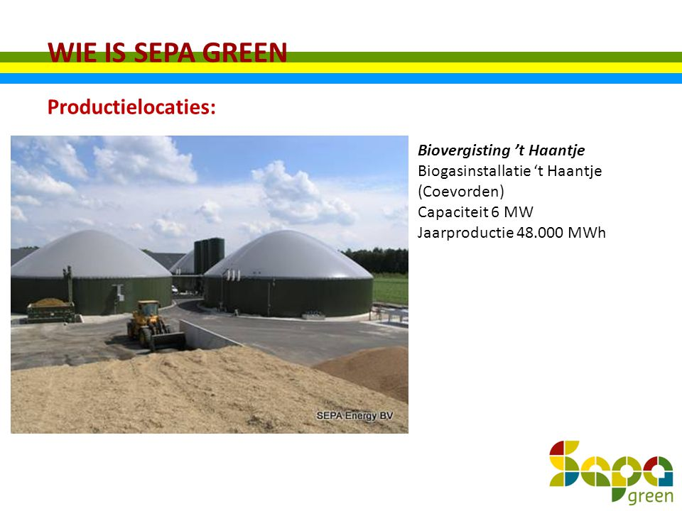 WIE IS SEPA GREEN Productielocaties: