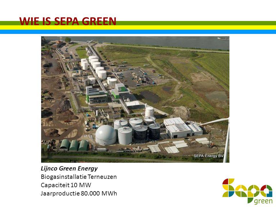 WIE IS SEPA GREEN Lijnco Green Energy Biogasinstallatie Terneuzen