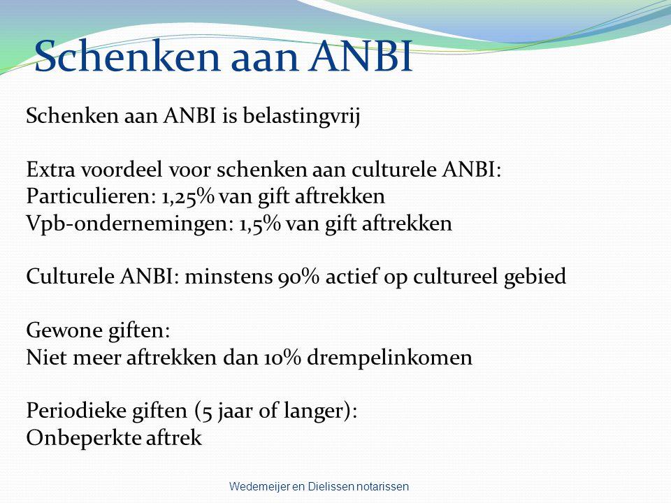Schenken aan ANBI Schenken aan ANBI is belastingvrij