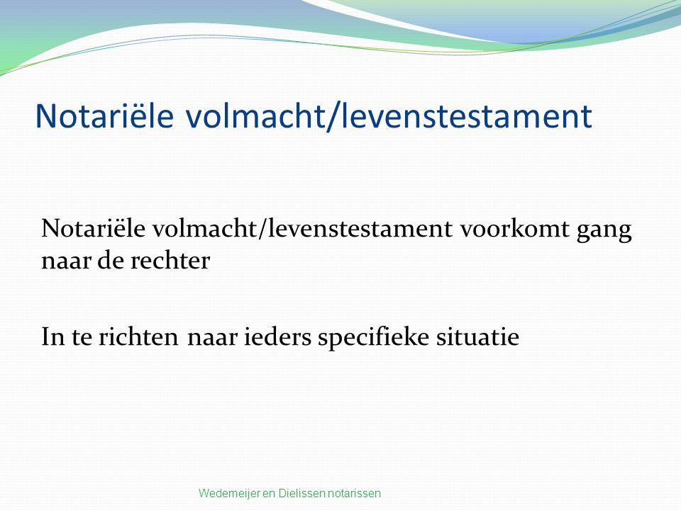 Notariële volmacht/levenstestament