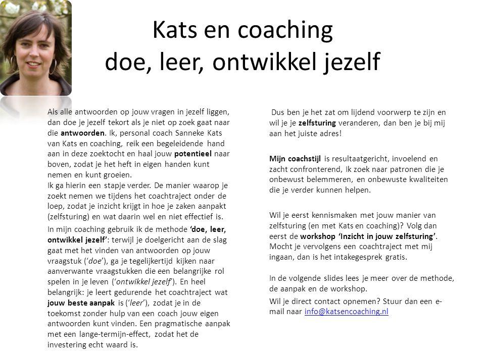 Kats en coaching doe, leer, ontwikkel jezelf