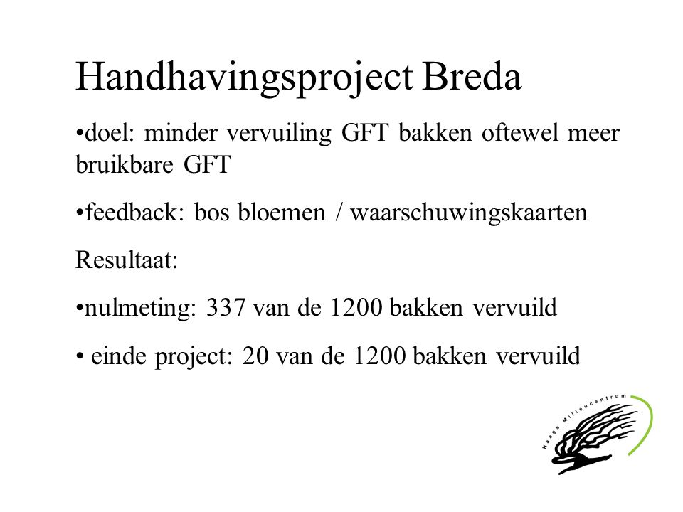 Handhavingsproject Breda