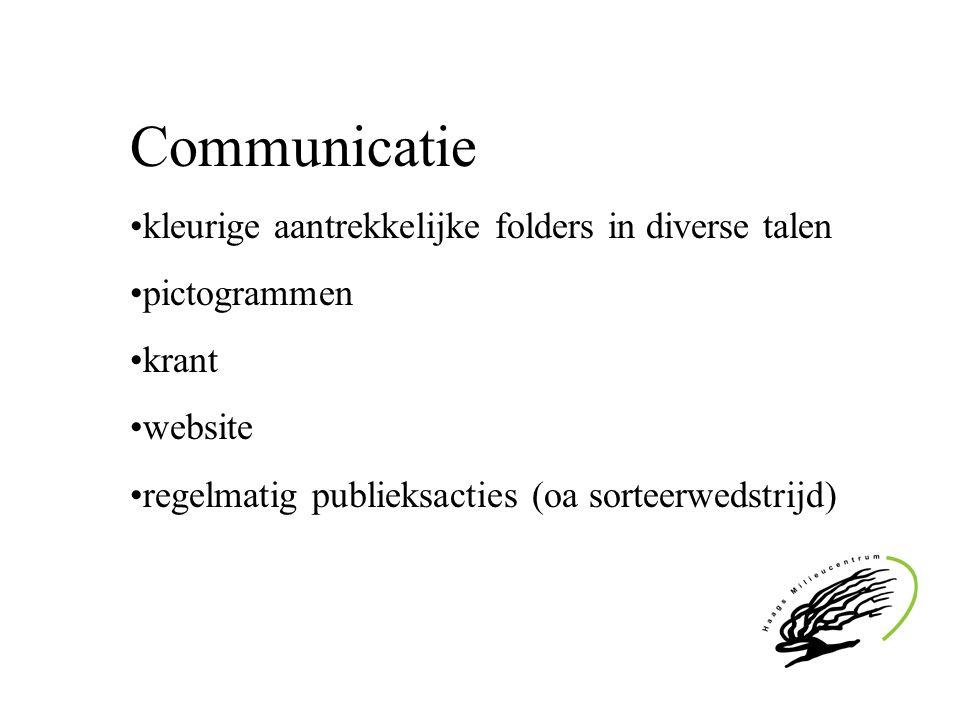 Communicatie kleurige aantrekkelijke folders in diverse talen