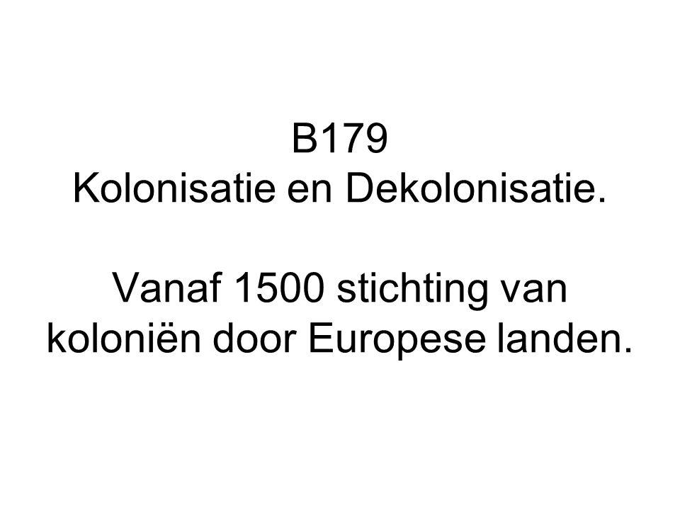 B179 Kolonisatie en Dekolonisatie