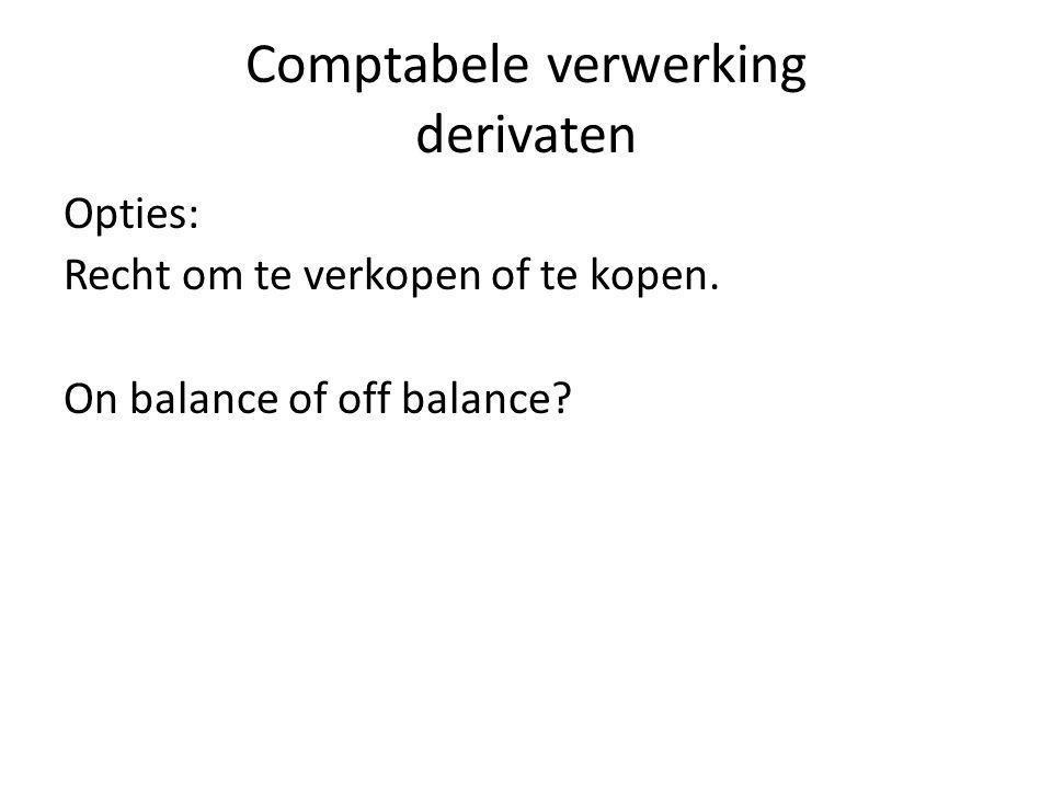Comptabele verwerking derivaten