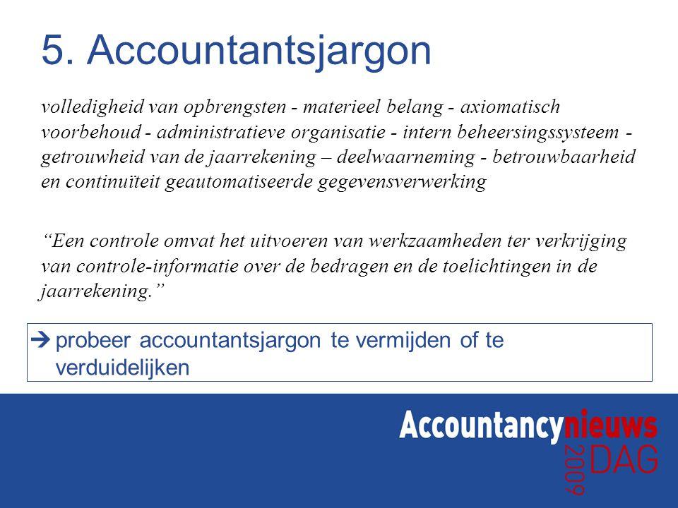 5. Accountantsjargon