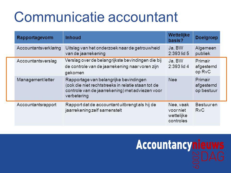 Communicatie accountant