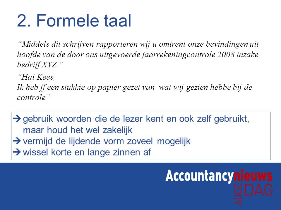 2. Formele taal