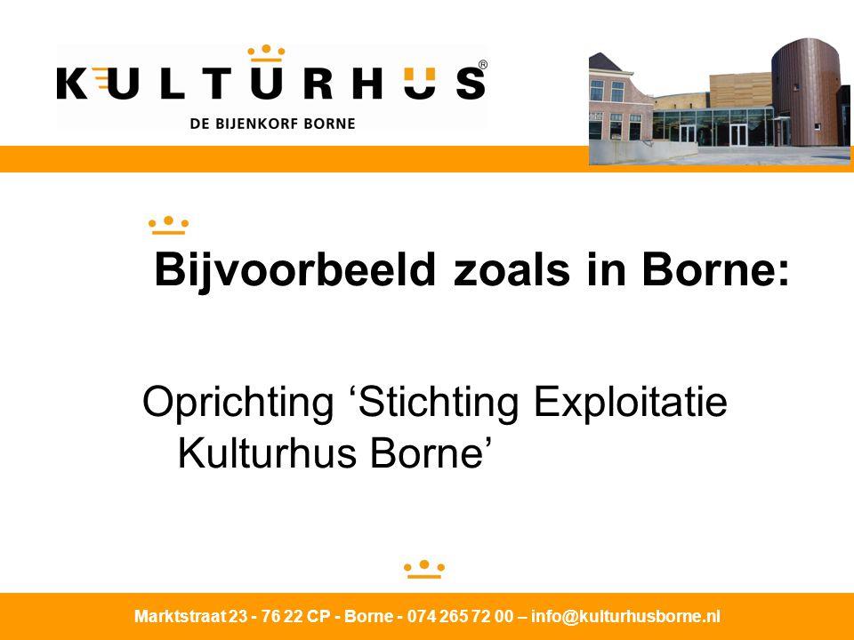 Bijvoorbeeld zoals in Borne: