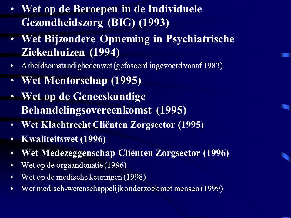 Wet op de Beroepen in de Individuele Gezondheidszorg (BIG) (1993)