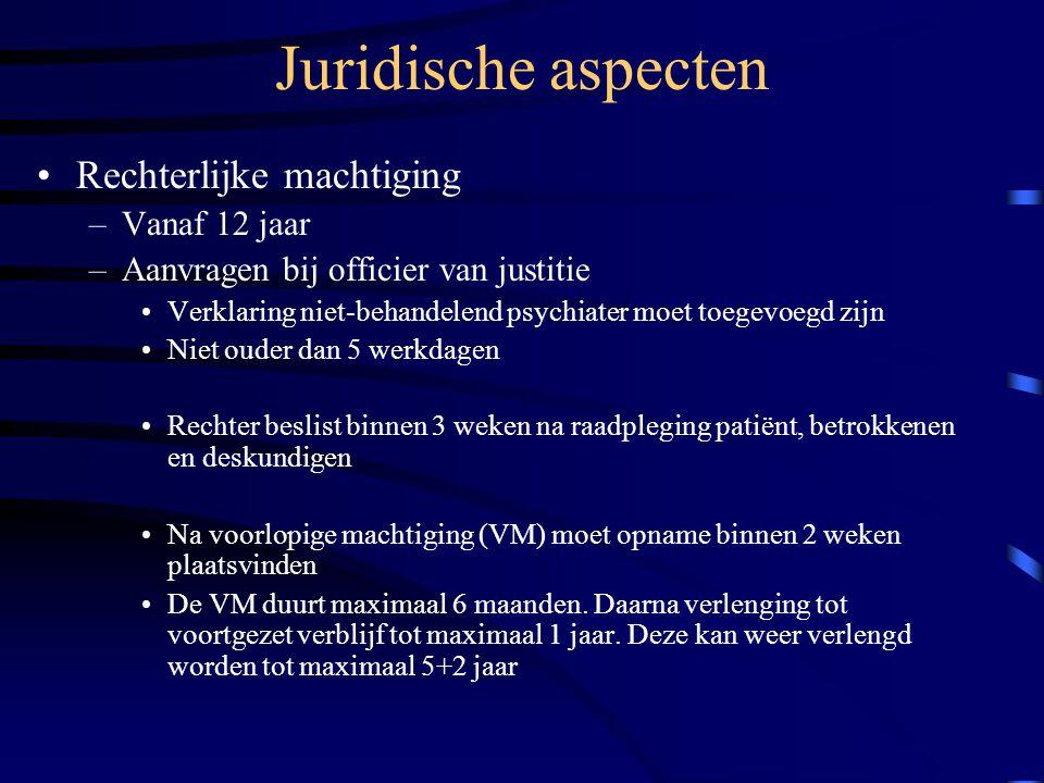 Juridische aspecten Rechterlijke machtiging Vanaf 12 jaar